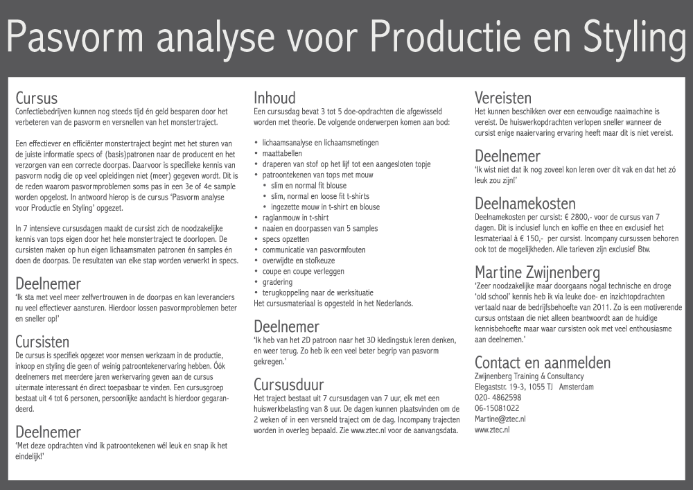 pasvorm analyse styling en productie - tops
